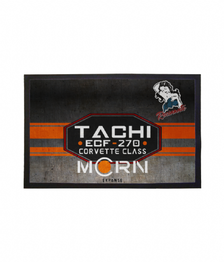 The Expanse Inspired MCRN Tachi Rocinante Doormat Welcome Mat